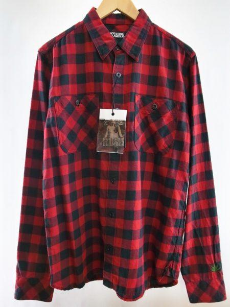 赤 シャツ HYSTERIC GLAMOUR