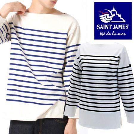 パネルボーダー Tシャツ SAINTJAMES