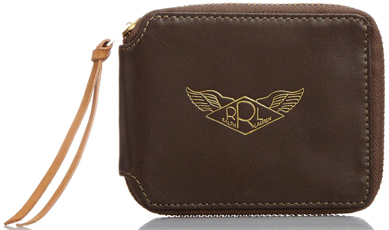 ロゴ入りラウンドファスナー財布