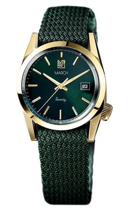 Seventy/Six Gold Case Green Dial