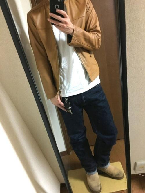 桃太郎ジーンズ コーデ
