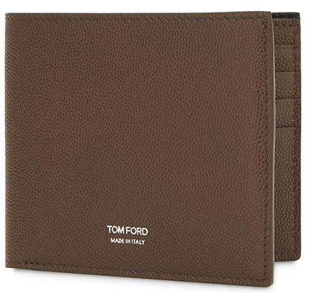 grained leather billfold wallet TOMFORD