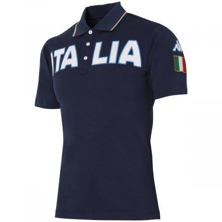 胸ITALIAロゴ半袖ポロシャツ