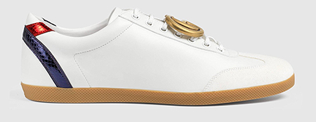 Leather Men sneaker with GG