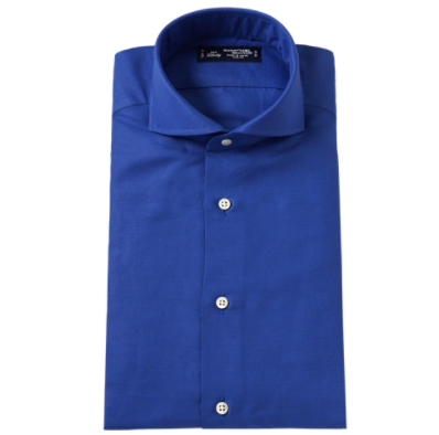 鎌倉シャツ 濃淡ブルーシャツ