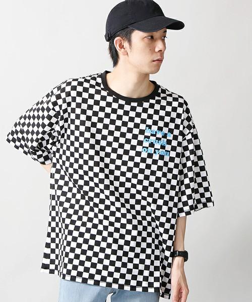パターンプリントBIGTシャツ