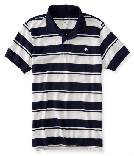 Heritage Stripe Logo Jersey Polo