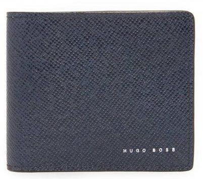 カーフレザー 二つ折り財布 HUGO BOSS