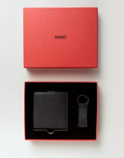 キーリング付き二つ折り財布 HUGO BOSS