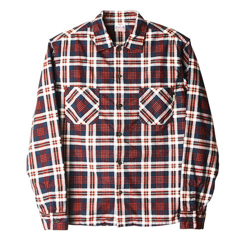 SD Print Flannel Check Shirt