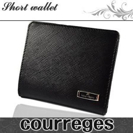 二つ折りブラック Courreges