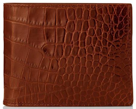 クロコレザー二つ折り財布 TOMFORD