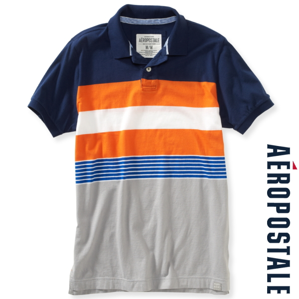 Mix Stripe Surf Jersey Polo