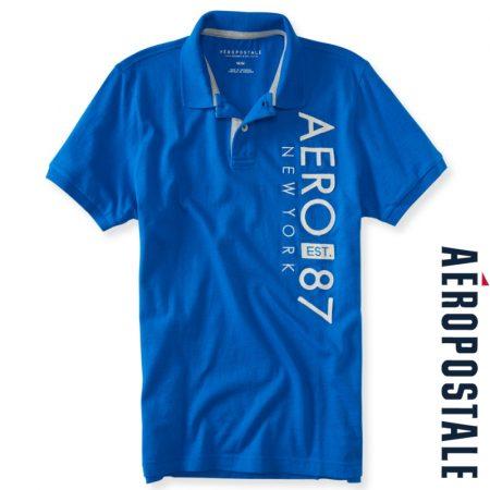 A87 New York Logo Jersey Polo