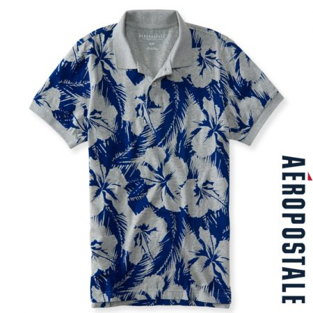 Hibiscus Jersey Polo
