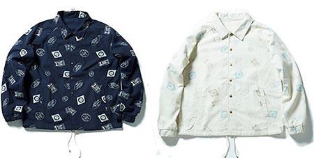 Stamp All-Over Cotton Coach Jacket