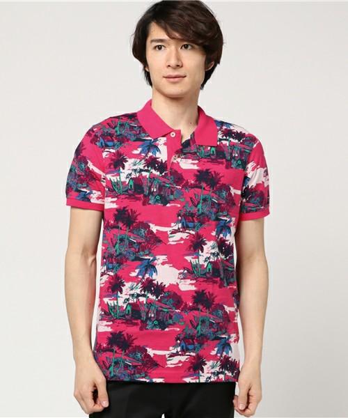 スラブジャージースリムフィットポロシャツ