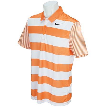 ブリーズボールドストライプ半袖ポロシャツ