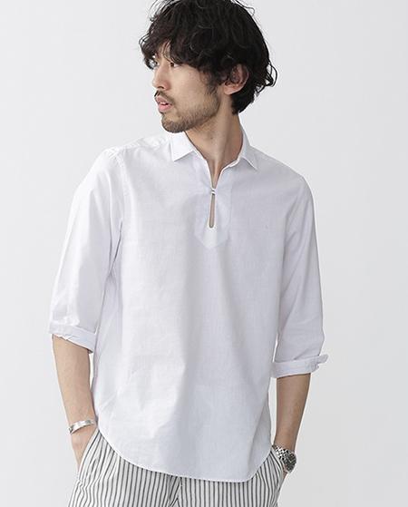 リネンスキッパーシャツ/nanounivers