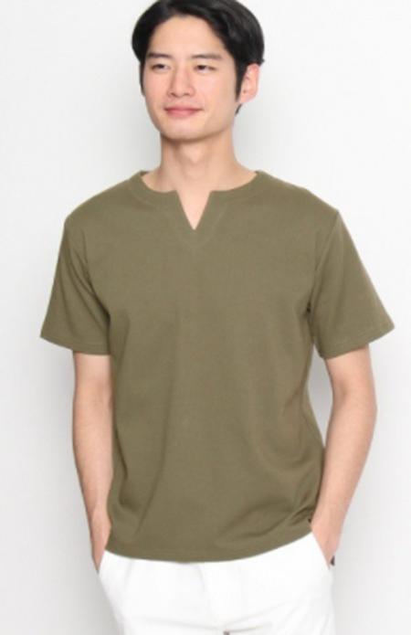 TK キーネックシャツ