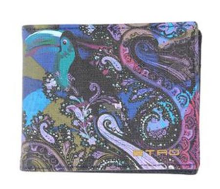 カラーペイズリー二つ折り財布