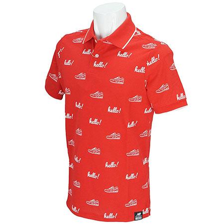 モノグラムプリント半袖ポロシャツ