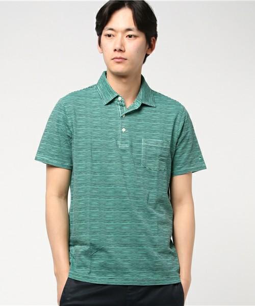 コットンジャージースリムフィットポロシャツ