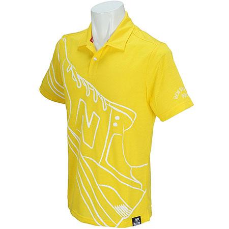 ビッグシューズプリント半袖カラーポロシャツ