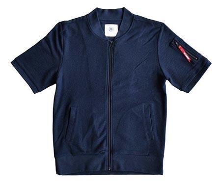リブカットソー半袖MA-1