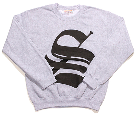 "STADIUM BIG ""S"" LOGO CREW NECK SWEAT"