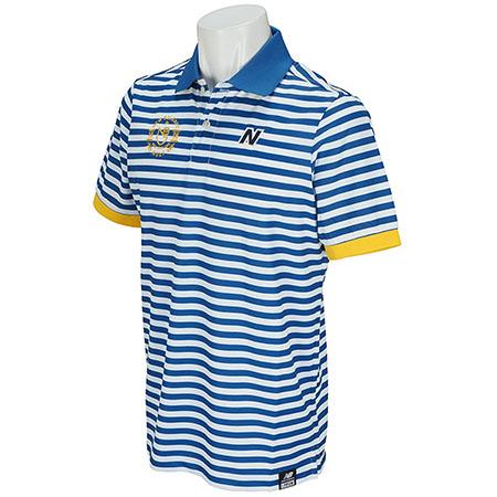 ボーダー半袖ポロシャツ