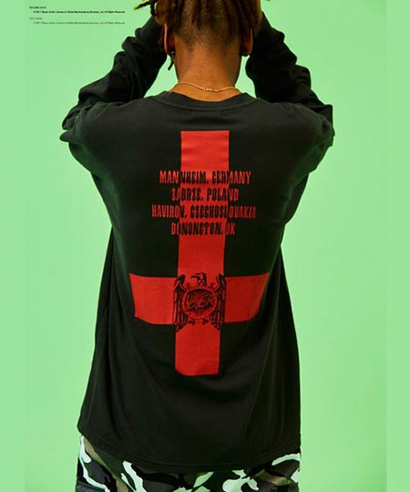 M/G BACKPRINT LS TEE/Tシャツ