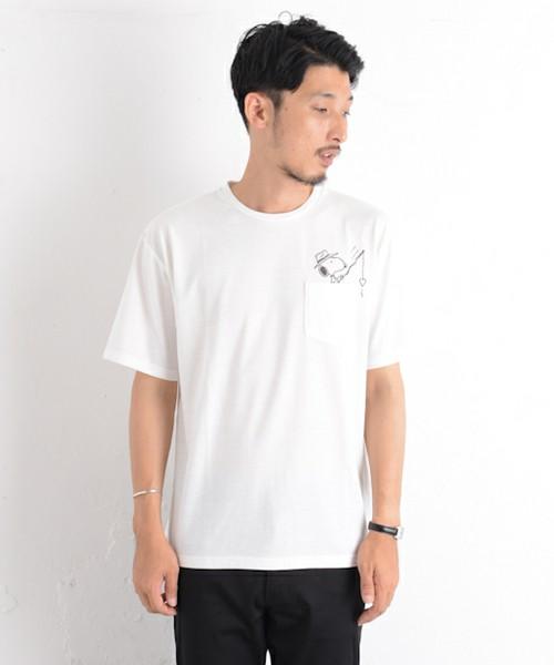 ピーナッツコラボポケットTシャツ