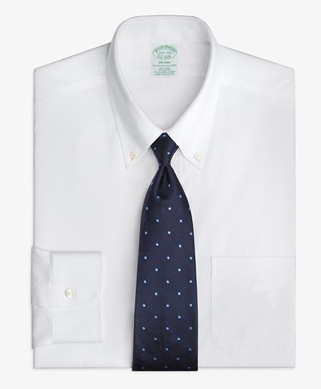 ノンアイロンストレッチピンポイントオックスフォード ポロカラーシャツ/ BROOKS BROTHERS