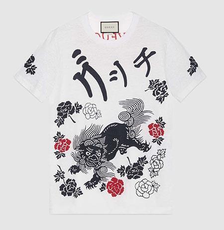 ライオン プリント コットン Tシャツ