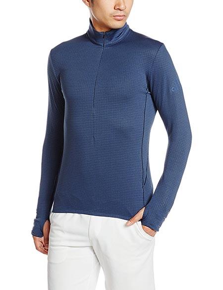 クライマヒート ハーフジップシャツ
