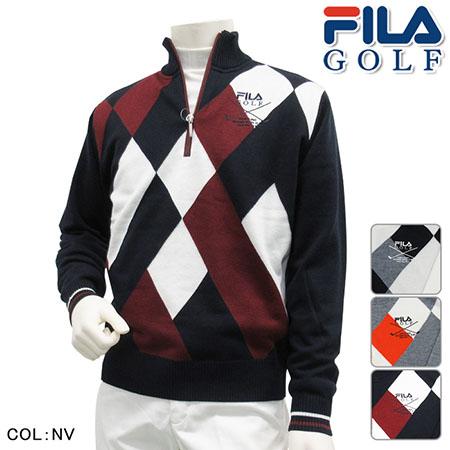 FILA GOLF/ジャガードハーフジップセーター