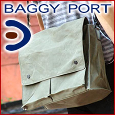 BAGGY PORT/ロウビキパラフィンショルダーバッグ