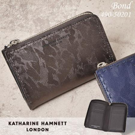 BOND 縦型二つ折り財布