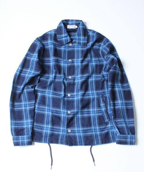 インディゴチェックコーチシャツジャケット