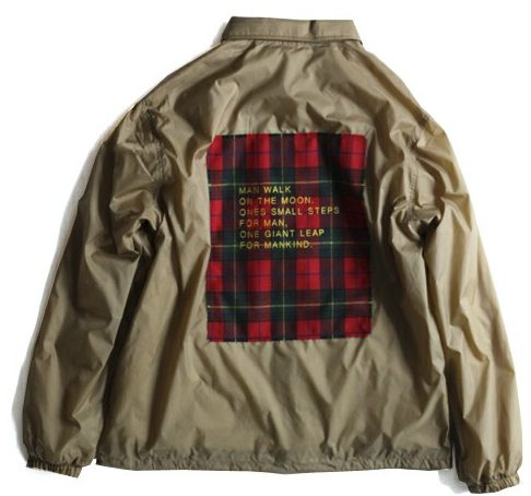 COACHES JACKET 'MAN WALK ON THE MOON' / パッチドコーチジャケット