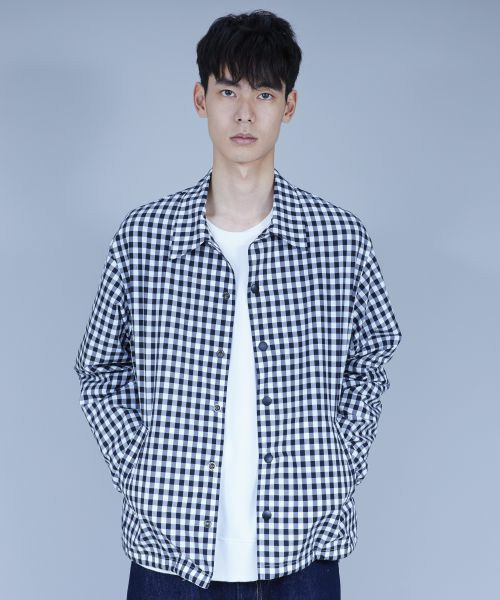 GINGHAM CHECK COACH JACKET