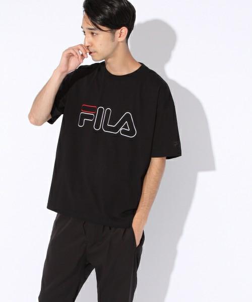 niko and ×FILA/ ロゴ刺繍ワイドTシャツ