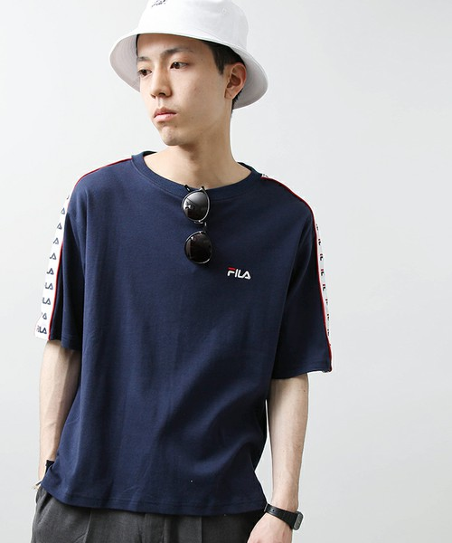 WE GO ×FILA/ ラインテープTシャツ