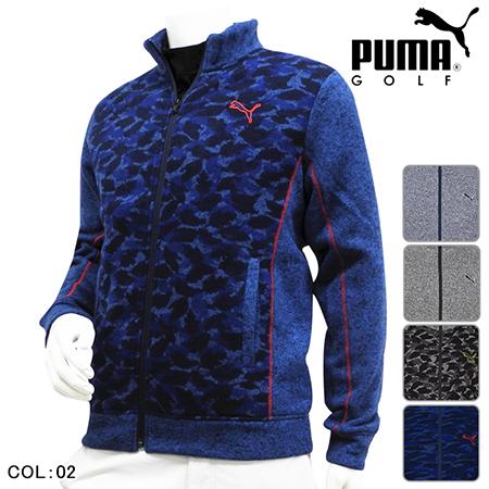 PUMA GOLF/フルジップニットブルゾン