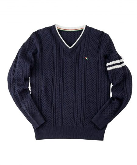 arnold palmer/ケーブルVネックセーター