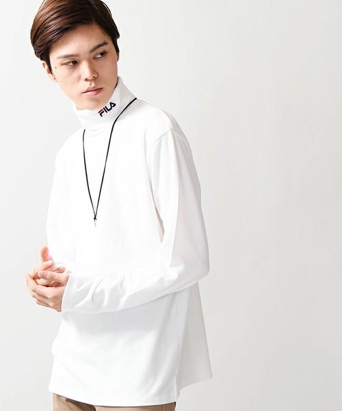 WE GO ×FILA/ タートルネックTシャツ
