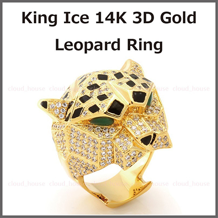 14K 3D Gold Leopard Ring