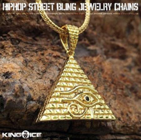 ネックレス ゴールドチェーン ピラミッド ホルスの目 14金コーティング