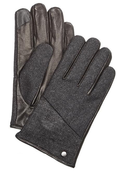 レザー×ニット メンズ手袋